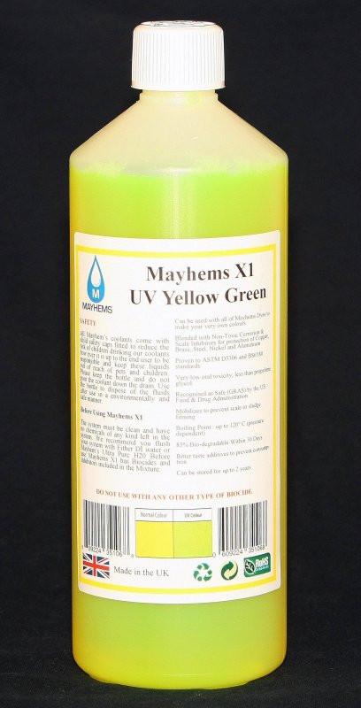 liquide de protection x1 jaune vert 1 litre mayhems watercooling. Black Bedroom Furniture Sets. Home Design Ideas