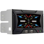 "AeroCool-Strike-X Panel - Fan Controler 5 Ventilateurs + Sondes + LCD Tactile - 2 * 5.25"" - NOIR"