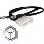 The Feser Company-LED Blanc 5mm DOUBLE avec prise molex 4 pins