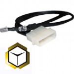 The Feser Company-LED Jaune 5mm DOUBLE avec prise molex 4 pins