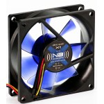 NoiseBlocker-BlackSilentFan X1 80*80*25mm, 10dB, 16.2CFM, connect. 3 pins carte mère REV 3.00 BULK