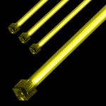 Sharkoon-Néon Cold Cathode 30cm JAUNE (*2) Protégé + starter (Kit de 2 Néons)