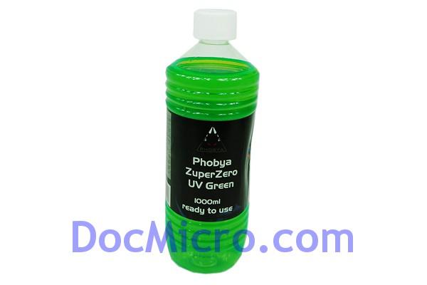 liquide de protection zuperzero 1 litre vert r actif aux uv phobya watercooling liquide de. Black Bedroom Furniture Sets. Home Design Ideas