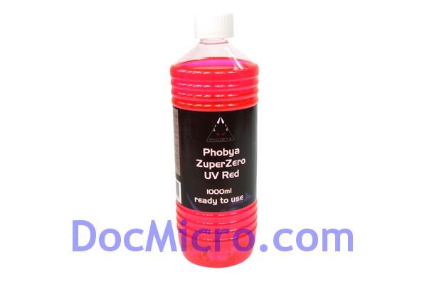 liquide de protection zuperzero 1 litre rouge r actif aux uv phobya watercooling. Black Bedroom Furniture Sets. Home Design Ideas