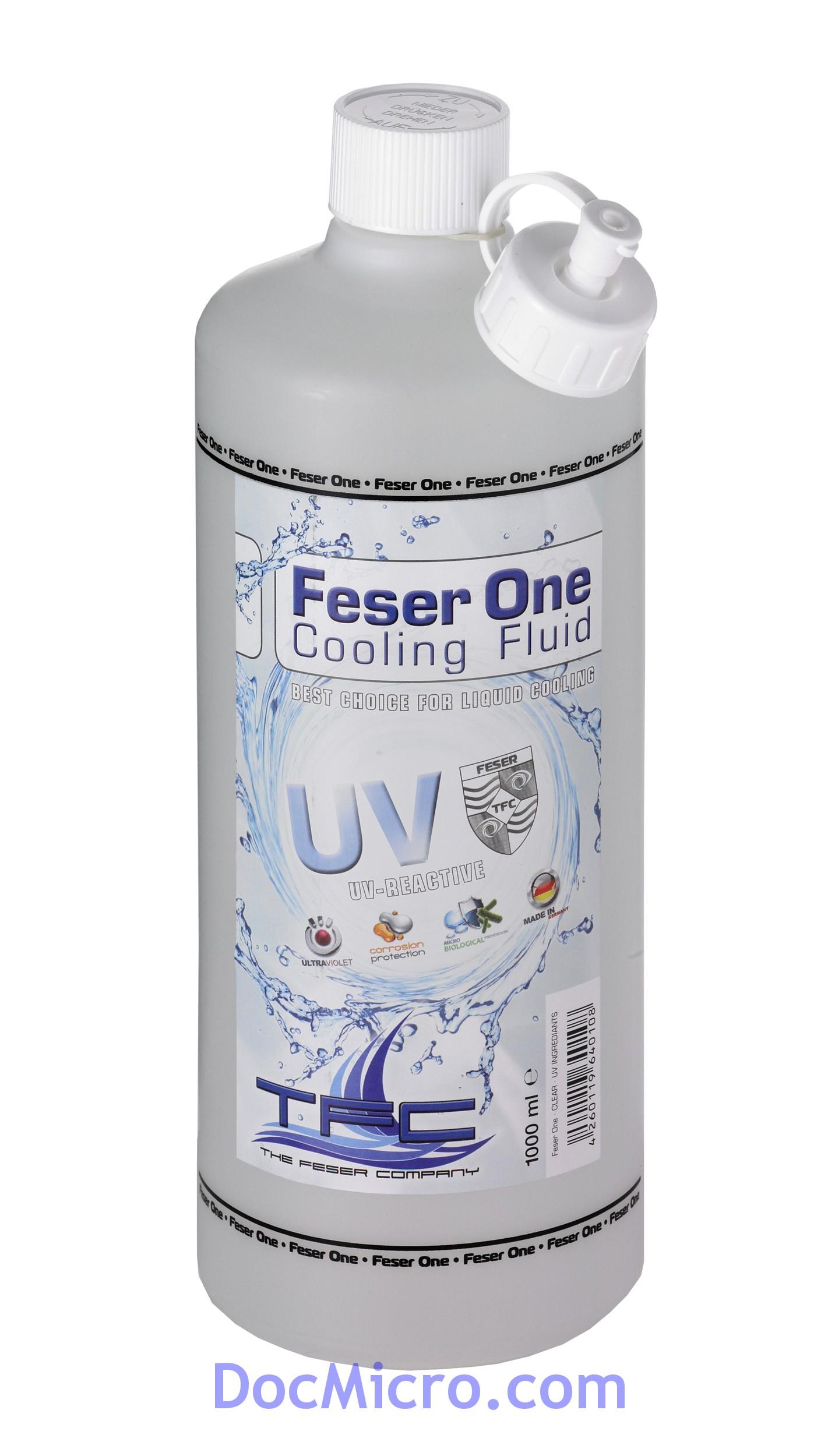 liquide de protection feser one cooling fluid r actif aux uv transparent bleu 1 litre the. Black Bedroom Furniture Sets. Home Design Ideas