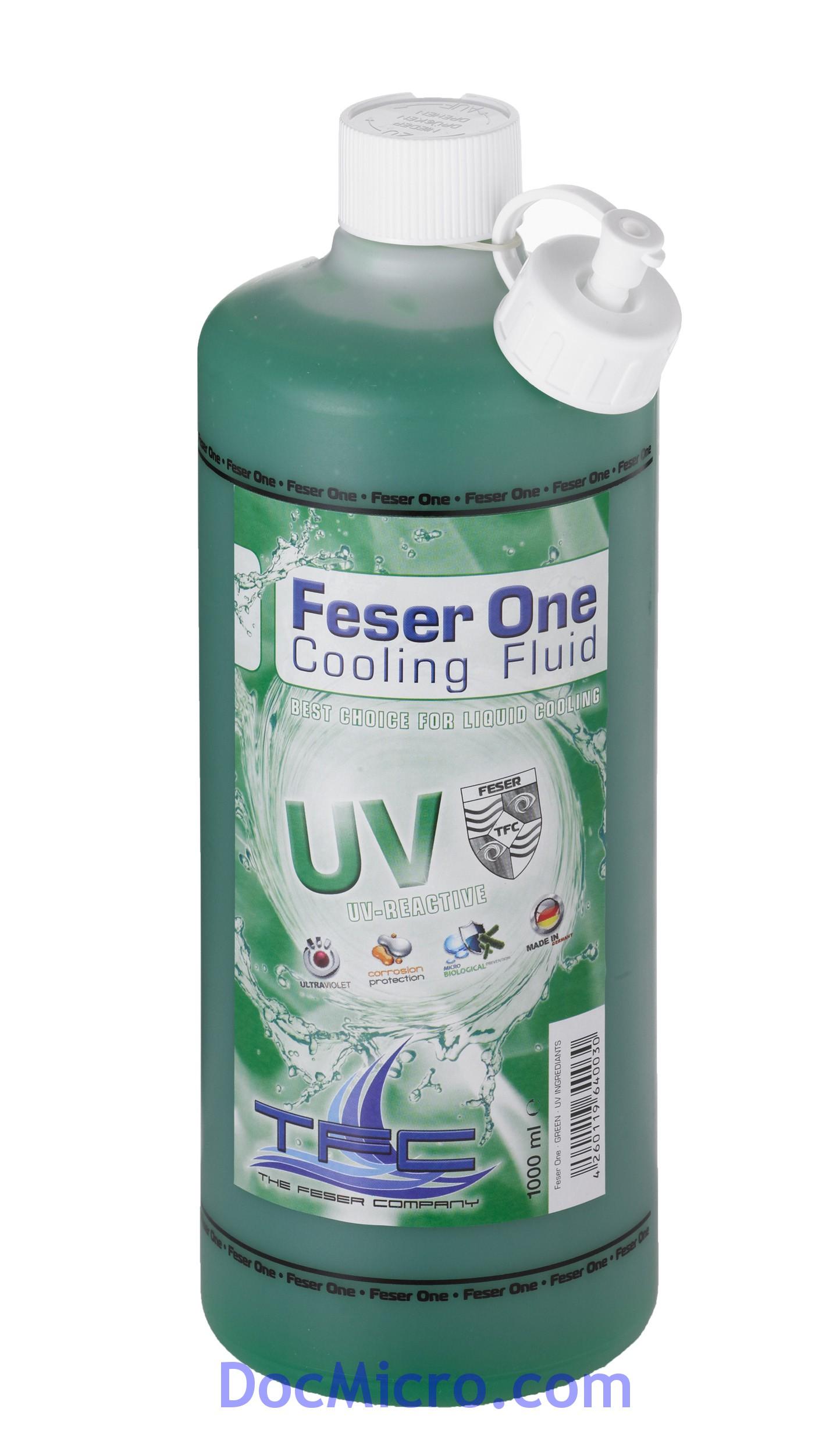liquide de protection feser one cooling fluid r actif aux uv vert 1 litre the feser company. Black Bedroom Furniture Sets. Home Design Ideas